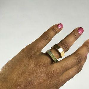 J. Crew Gold Tone Ring Set